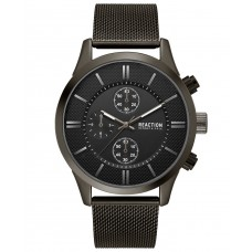 Kenneth Cole Reaction Chronograph Sport Stainless Steel Mesh Bracelet Watch (Black)