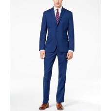 Kenneth Cole Reaction Men's Ready Flex Slim-Fit Suits (Bright Blue, 42R W35)