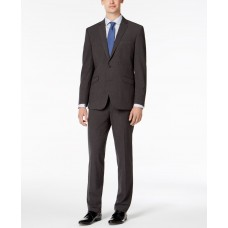 Kenneth Cole Reaction Men's Slim-Fit Ready Flex Stretch Charcoal Micro-Grid Big and Tall Suit (Charcoal, 42XL)