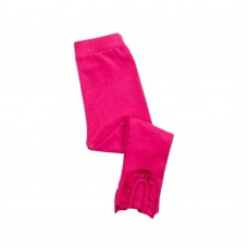 Kidsy Baby Girls Frilled Pants – Peruvian Pima Cotton, Elastic Waist, Pull-On, Solid Colors