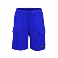Kidsy Boys Casual Beach Cargo Shorts – Soft Cotton, Pull-On/Drawstring Closure, Two Pockets, Blue, 8