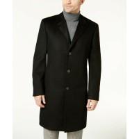 Lauren Ralph Lauren Men's Luther Charcoal 100% Cashmere Overcoats, Charcoal, 40 T/L39.5