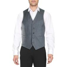 Lauren Ralph Lauren Mens Wool Blend Heathered Suit Vests