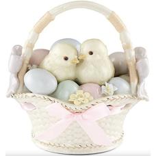 Lenox Figurines: Spring Chicks in a Basket