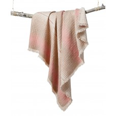 "Lucky Brand  Baja Stripe Serape Throw  (Pink, 50x60"")"