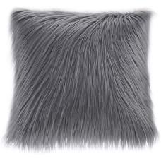 Madison Park Edina Square Faux-Fur Decorative Pillow (20X20)