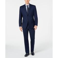 Marc New York by Andrew Marc Men's Modern-Fit Stretch Blue Birdseye Suit