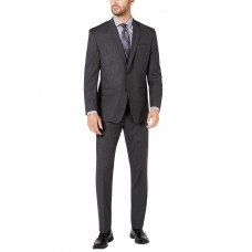 Marc New York by Andrew Marc Men's Modern-Fit Stretch Pinstripe Suit, Charcoal, 42R