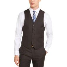 Michael Kors Men's Classic-Fit Airsoft Stretch Suit Vest, Brown, 2XL