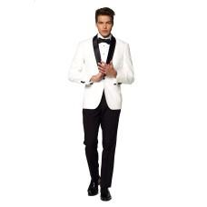OppoSuits Men's Pearly White Festive Tuxedo (White, 40 R)