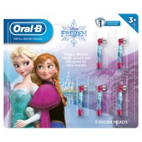 Oral-B Kids Disney's Frozen 2 or Star Wars Replacement ToothBrush Heads, 5-Count, Frozen