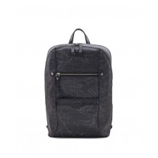 Patricia Nash Map Pontori Backpack Patina Coated Linen Canvas (Black, One Size)