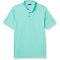 PGA TOUR Men's Short Sleeve Feeder Stripe Polo Shirt (Green, X-Large)