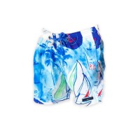 Printed, Solid & Fluorescent Colored Quick Dry Swim Shorts for Boys and Girls, Swim Trunks, Bathing Suits, Swimwear, Swim Shorts for Kids, Sail Blue, 11-12T