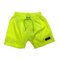 Printed, Solid & Fluorescent Colored Quick Dry Swim Shorts for Boys and Girls, Swim Trunks, Bathing Suits, Swimwear, Swim Shorts for Kids, Fluorescent Green, 3-4T