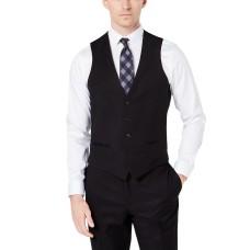 Ryan Seacrest Distinction Men's Slim-Fit Stretch Tuxedo Suit Vest, Black, S