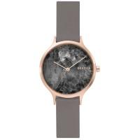 Skagen Women's Anita Grey Leather Strap Watch 34mm