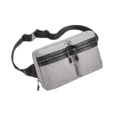 Steve Madden Men's Blend Double Pocket Belt Bag (Gray)