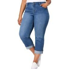Style & Co Plus Size Curvy Cuffed Capri Jeans (Camino Wash, 16W)