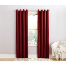 Sun Zero Barrow Energy Efficient Grommet Curtain Panel (Red, 54X95)