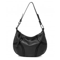 T Tahari Devon Leather Hobo Handbag, Black