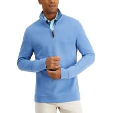 Tasso Elba Men's Quarter-Zip Sweatshirt (Blue, Small)