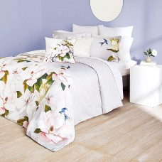 Ted Baker Opal Cotton 3 Piece Comforter Set with Shams (Grey, Full/Queen)