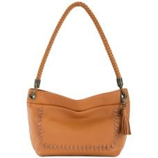The Sak Flores Leather Small Hobo Handbag, Ochre