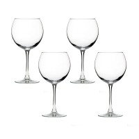 The Season Essentials Classic Stemmed Red Wine Glass Set, Set of 4
