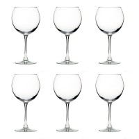 The Season Essentials Classic Stemmed Red Wine Glass Set, Set of 6