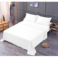 the Season Essentials Wrinkle Free Sheet Sets with Deep Pockets & Stain Resistant, 1800 Thread Count Bamboo Based, White, Twin XL