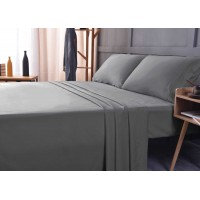 the Season Essentials Wrinkle Free Sheet Sets with Deep Pockets & Stain Resistant, 1800 Thread Count Bamboo Based, Gray, Twin XL