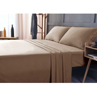the Season Essentials Wrinkle Free Sheet Sets with Deep Pockets & Stain Resistant, 1800 Thread Count Bamboo Based, Tiger Eye, California King
