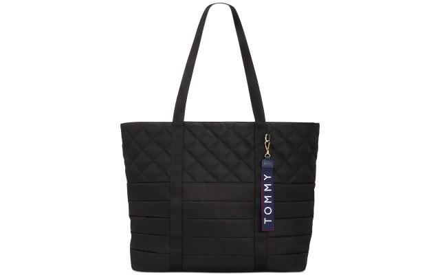 Tamsin Nylon Tote Handbag, Black