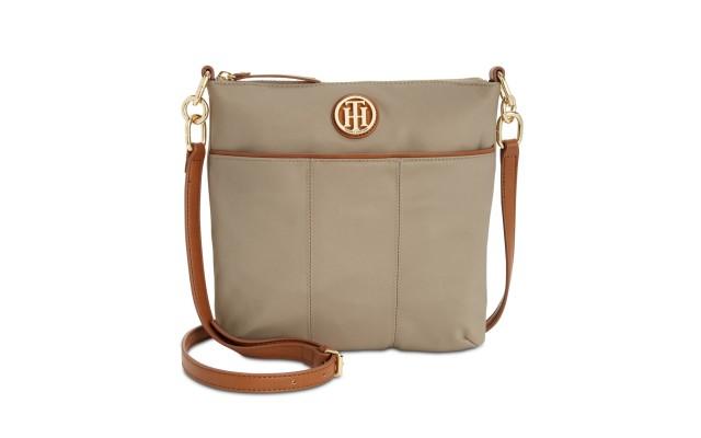 Hilfiger Th Signature Crossbody Hand Bag W/ Shoulder Strap (Gold, One Size)