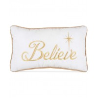 Trans Pac Joy To The World Believe Decorative Pillow