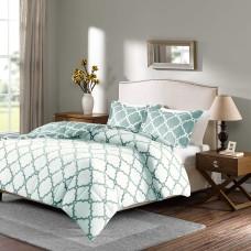 True North by Sleep Philosophy Peyton Reversible 3-Pc. Full/Queen Comforter Set (Aqua, Full/Queen)