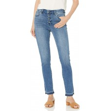 Vince Camuto Button-Fly High-Rise Jeans (Spectrum Blue, 29/8)