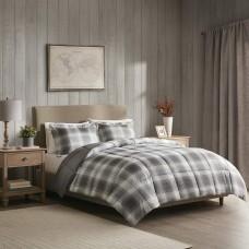 Woolrich Woodsman Reversible 3-Pc. Comforter Set (Gray, Full/Queen)