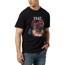 Wrangler Men's Checotah Logo Graphic T-Shirt (Black,M)