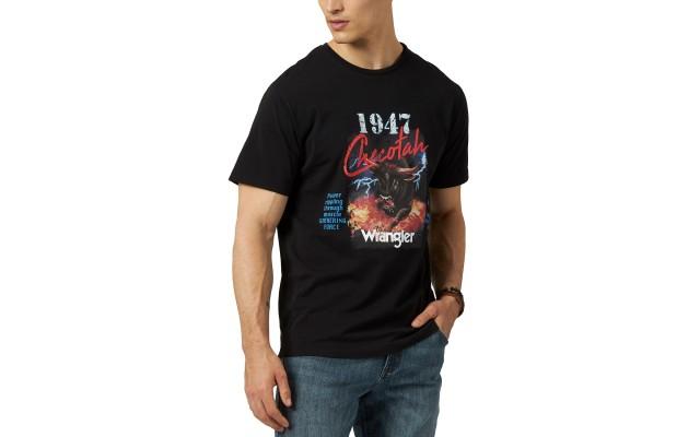 Men's Checotah Logo Graphic T-Shirt (Black,M)