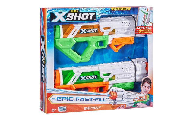 Water Gun Toy for Kids 2 for 1 Epic Water Blaster (2 Pack)