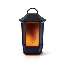 Acoustic Research Portable Rechargeable Bluetooth Wireless Speaker with LED Flickering Flame Light