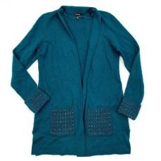 Alfani Embellished Open-Front Cardigan