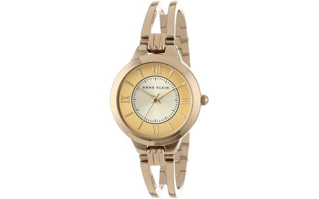 Women's AK/1440CHGB Everyday Classics Gold-Tone Open Bangle Watch