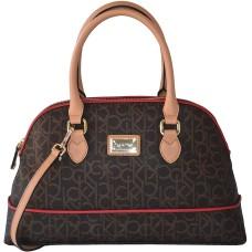 Calvin Klein Bag Signature Dome Satchel Crossbody Purse