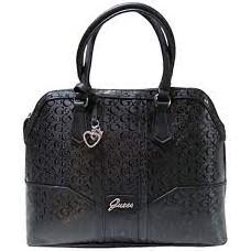 GUESS Women's Purse Black Handbag Dancing and Satchel