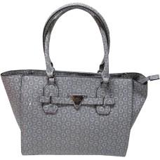 Guess Women's Purse Handbag Huron Tote Signature Logo Grey