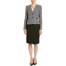 Tahari by Arthur S. Levine Women's Rita Skirt Suit (White/Black, 8)