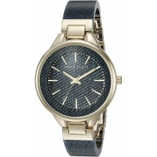 Women's Anne Klein Bracelet Watch, 36mm (Blue/Dark Denim/Gold)